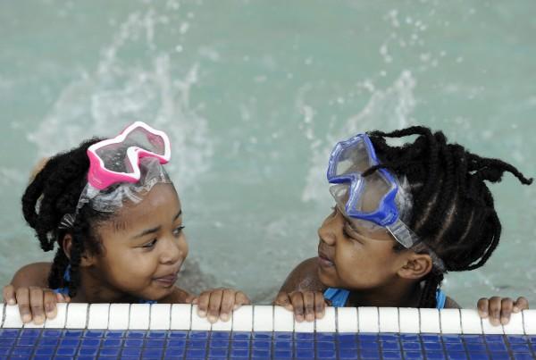 January 17, 2015:  Ann Arbor YMCA parent/toddler swim classes.