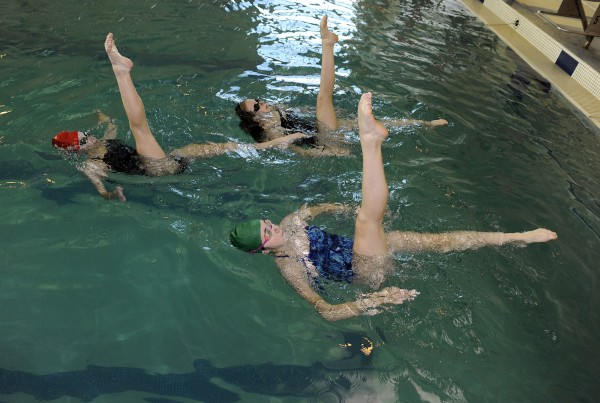 Ann Arbor YMCA Synchronized Swimming Class. 10-25-15.