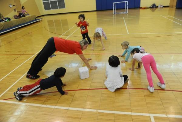 Infant Preschool kick catch throw
