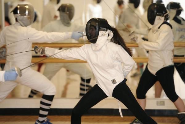 Ann Arbor YMCA fencing class. 10-15-15.