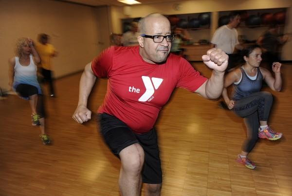 Ann Arbor YMCA Cardio Karate Class. 10-28-15.
