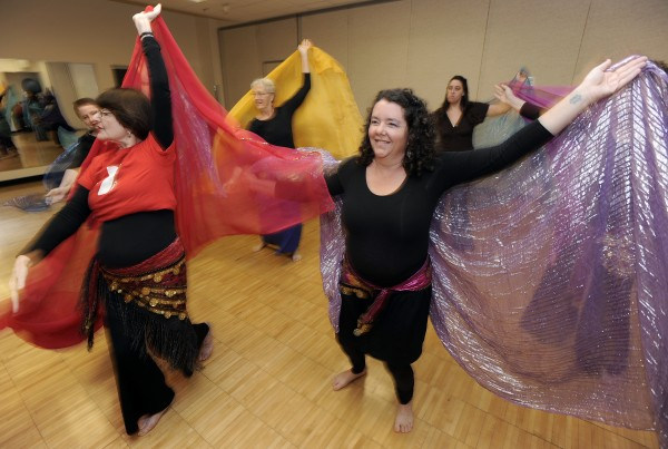 Ann Arbor YMCA Belly Dancing class. 10-6-15.