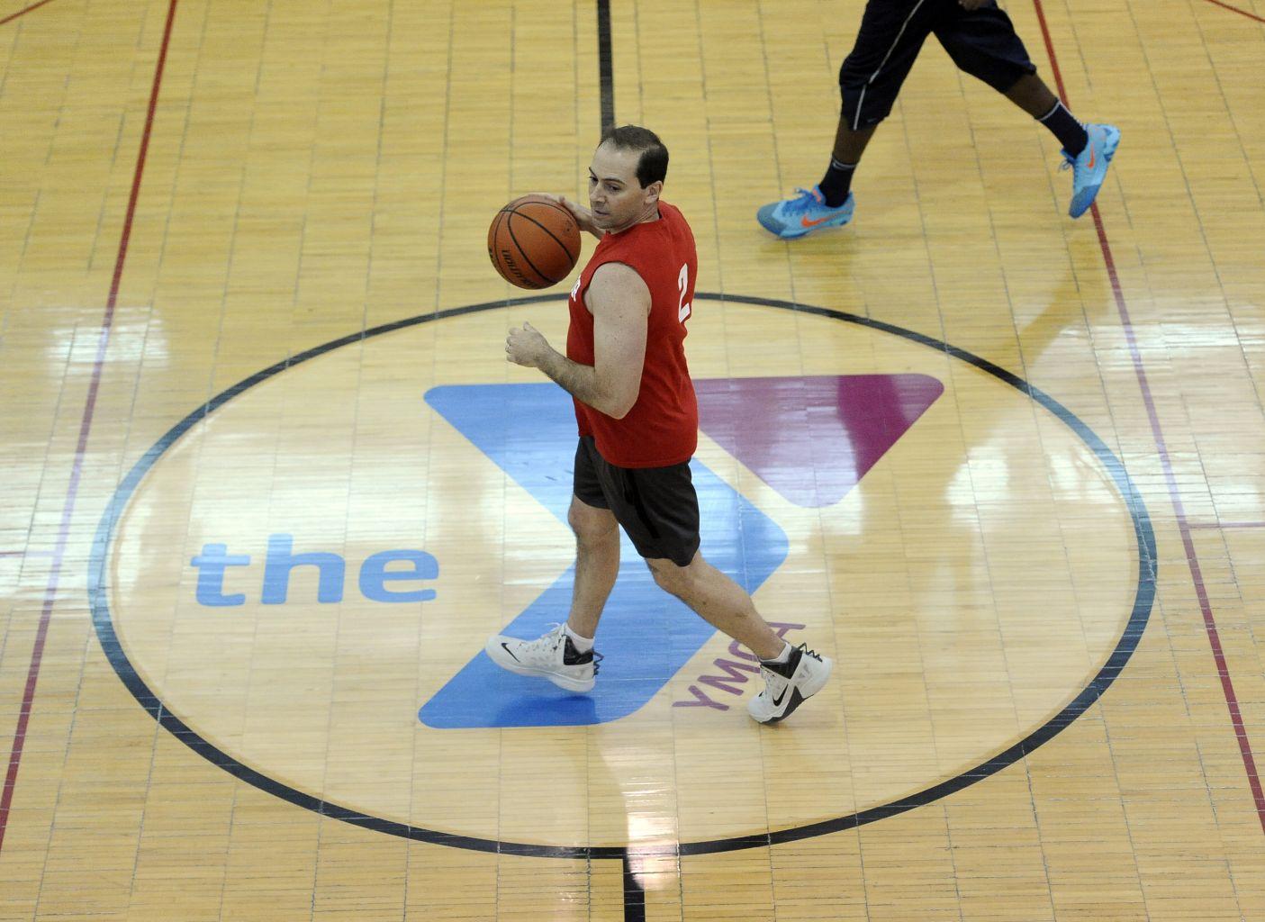Ann Arbor YMCA adult basketball, Sunday, January 25, 2015.