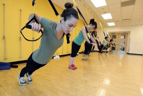 Ann Arbor YMCA TRX class, 2-25-14.