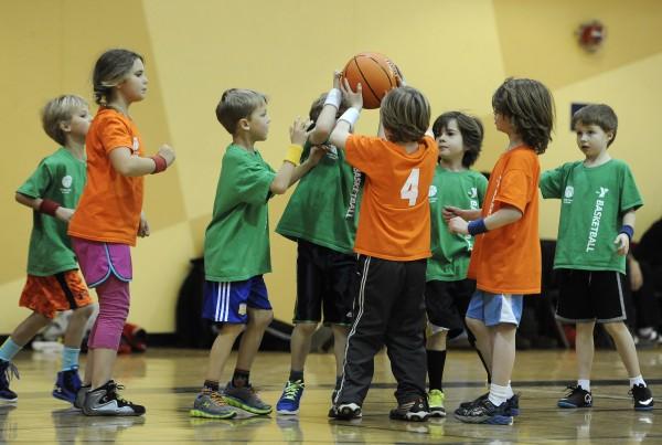 Ann Arbor YMCA co-ed basketball, Friday, January 23, 2015.