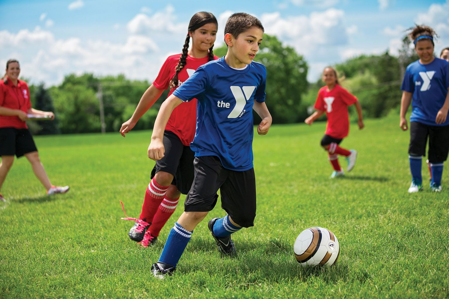 soccer ymca youth age arbor ann sports football sport playing children