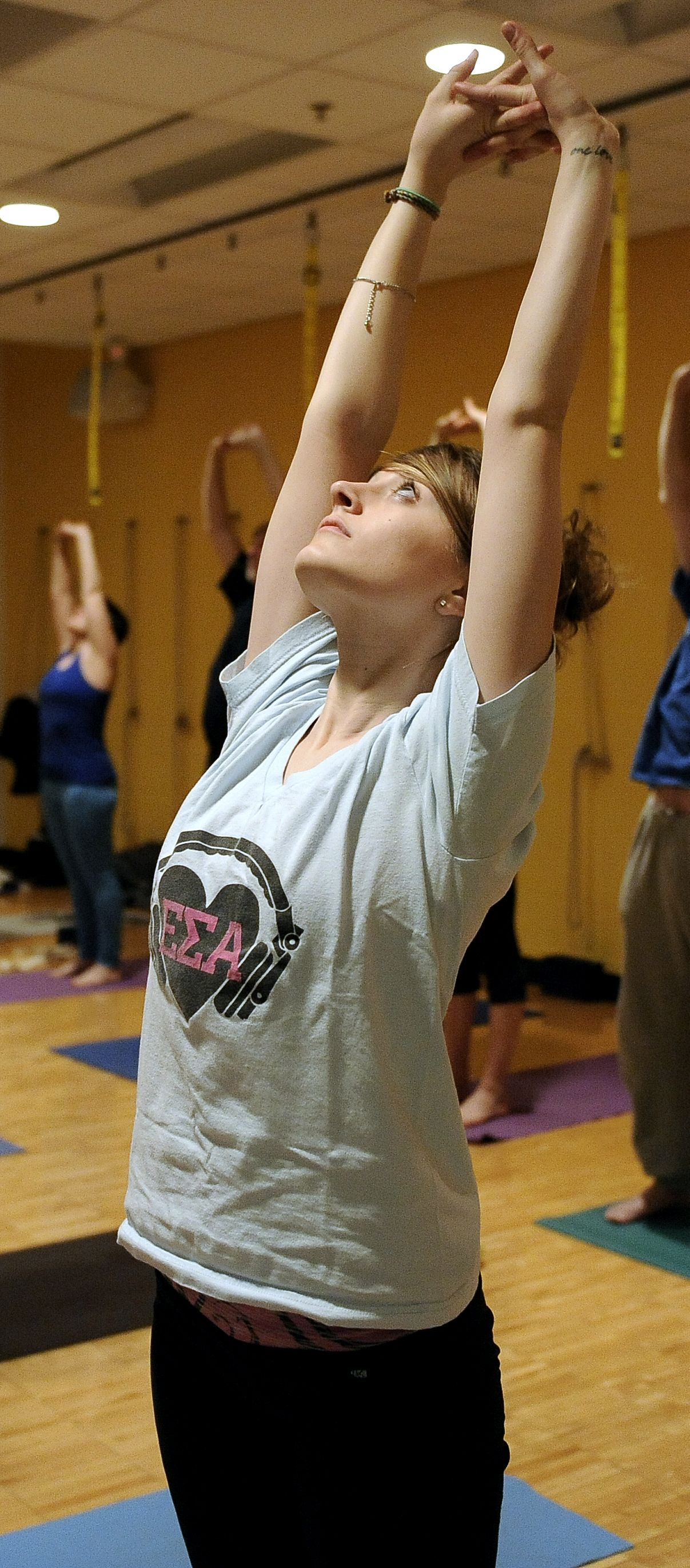 Ann Arbor YMCA Adult Yoga Class, Tuesday, January 19, 2016.