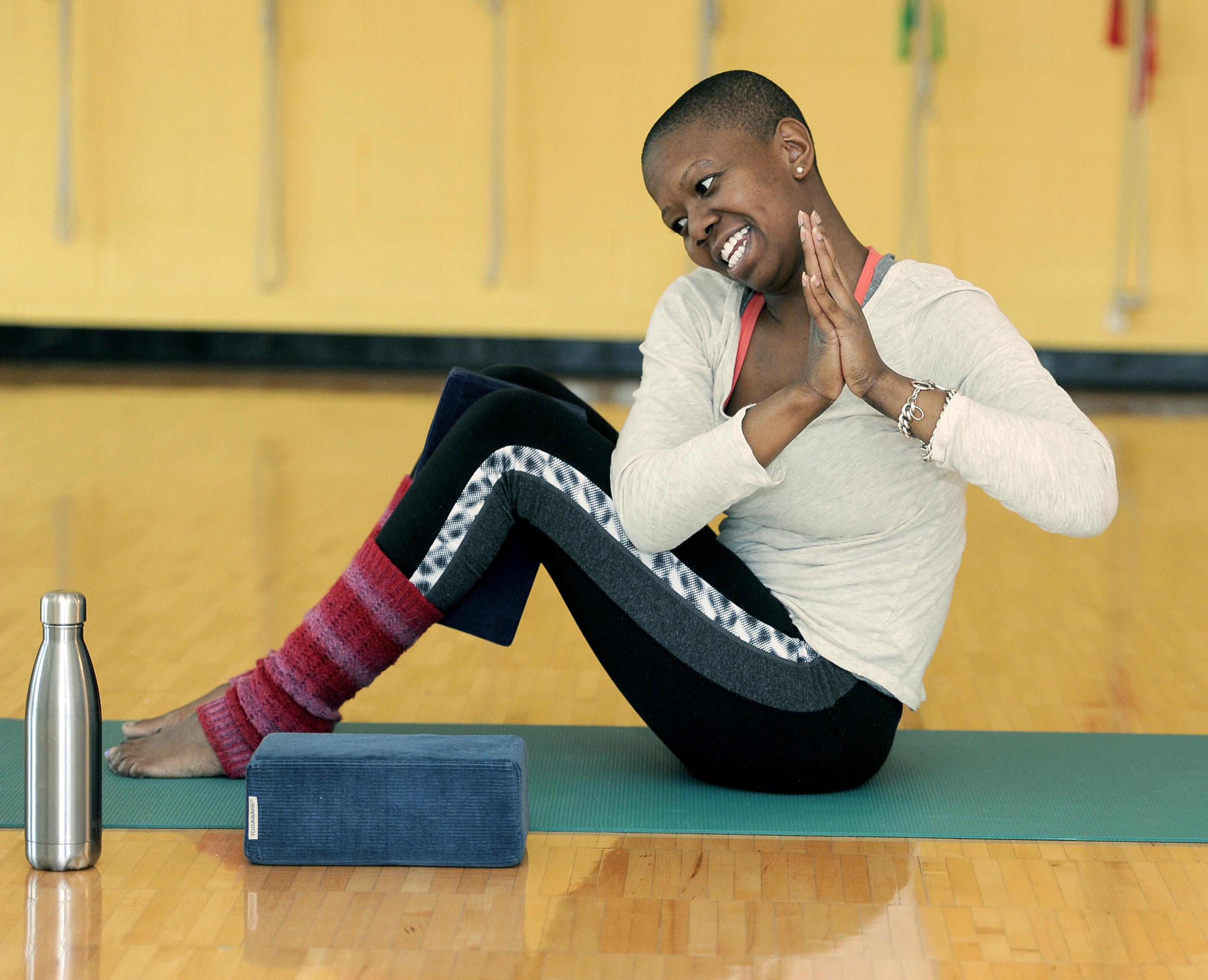 Ann Arbor YMCA Teen Yoga Class, Monday, January 18, 2016.