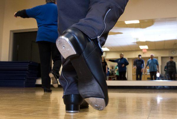 Ann Arbor YMCA Adult Tap Dancing Class.